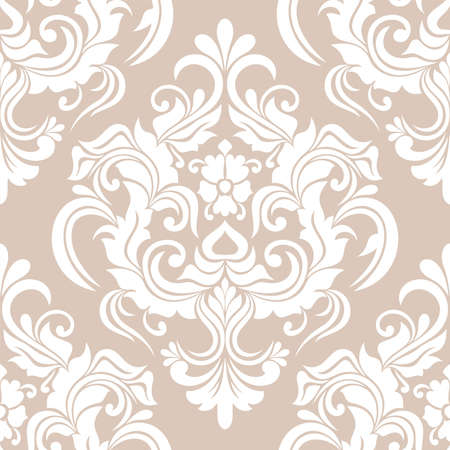 Illustration pour Damask seamless pattern. for wallpapers, elegant luxury texture floral ornament baroque. vector background. - image libre de droit