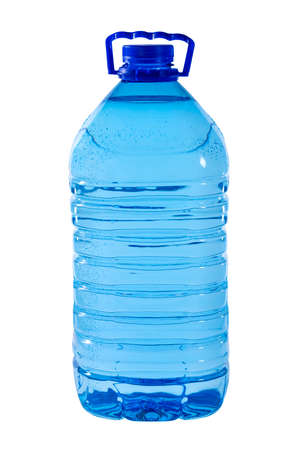 Photo for The big 5-liter bottle of water is isolated on a white background - Royalty Free Image