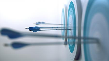 Photo pour 3 Arrows hit target - image libre de droit