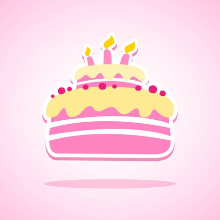 Stupendous Birthday Cake Icon Great For Any Use Royalty Free Vector Graphics Funny Birthday Cards Online Kookostrdamsfinfo