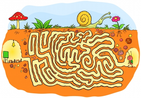 Ant going to school maze game