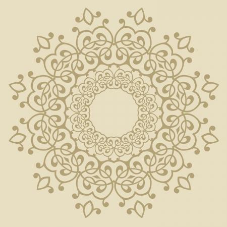Illustration pour Vector of traditional Persian-Arabic-Turkish-Islamic Pattern  - image libre de droit