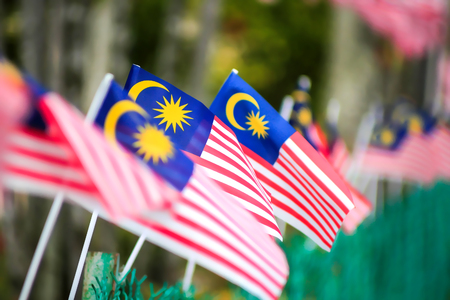 Malaysia Flag (selective focus and shallow deep of field - DOF)