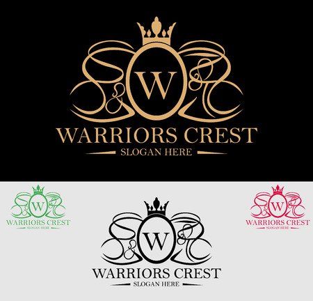 Premium Royal and Luxury Crest Logo Design. Suitable for Spa, beauty Center, Real Estate, Hotel, Resort, House logo