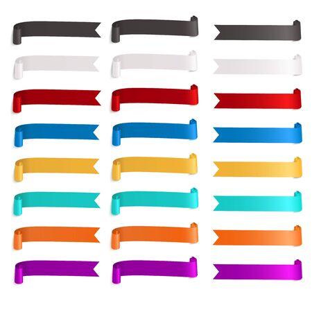 Illustration pour colorful ribbon banner flags set. Retro elements collection - image libre de droit