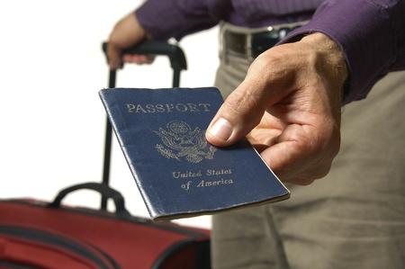Traveler hands over US passport