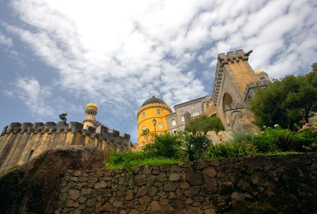 Pena National Palace in Sintra, Portugal is a part of the Cultural Landscape of Sintra, recognised as UNESCO World Heritage Site