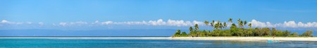 Photo for Panoramic photo of perfect tropical island in ocean - Royalty Free Image
