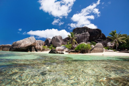 Foto de Stunning beach Anse Source d'Argent at Seychelles - Imagen libre de derechos