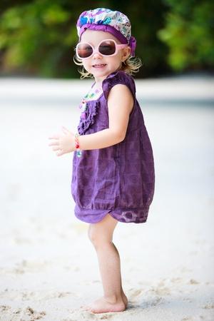 Full body portrait of adorable toddler girl fancy dressed