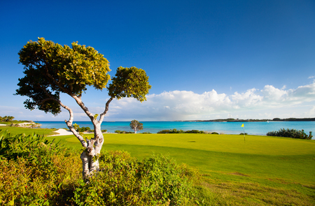 Stunning view of a coastal golf course at Caribbean