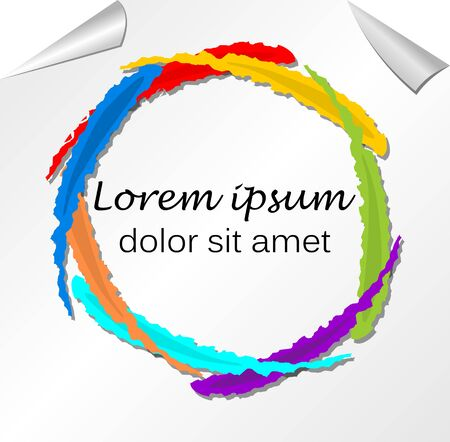 Rainbow colored leaflet background in grunge style