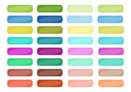 Mega set of web empty buttons in different colors, vector EPS10