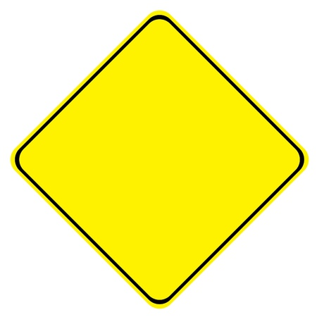 Yellow Blank Sign on White Background
