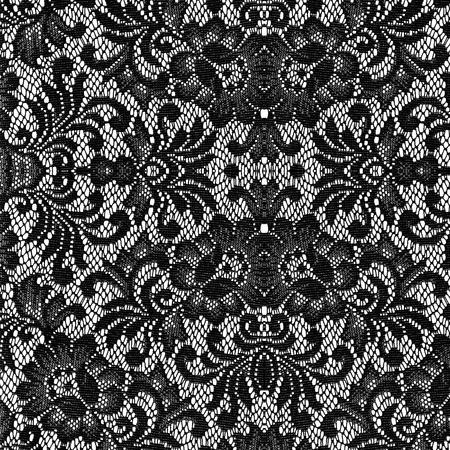 Photo pour black lace on white background - image libre de droit