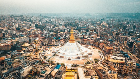 Photo for Stupa Bodhnath Kathmandu, Nepal - October 12, 2018 - Royalty Free Image