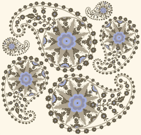 Seamless background from a paisley ornament, fashionable modern wallpaper or textile.