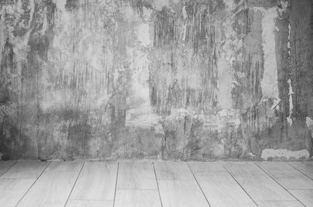 Foto de rendering of interior with concrete wall and floor. Textured background. Copyspace. Rough-surfaced. - Imagen libre de derechos
