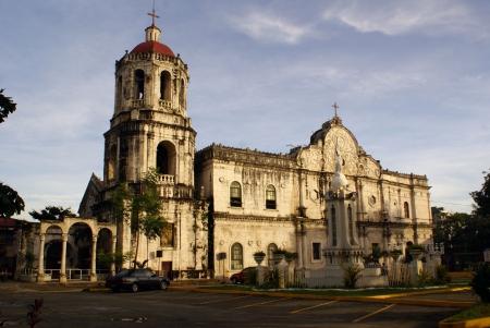 Morning and big Catholic cathedral in Sebu, Philippines