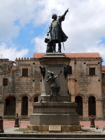 Statue of Columbus in Santo Doming, Dominicana