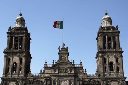 Towers of cathedral in Mexico-city, Mexico