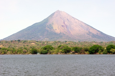 Lake Nicaragua and volcano Concepcion on the island Ometepe