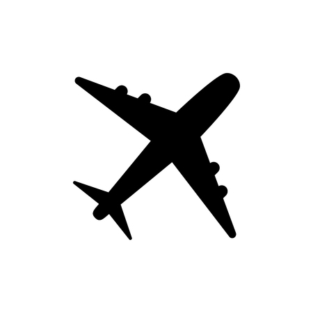 Ilustración de Plane icon vector, solid logo illustration, pictogram isolated on white vector illustration - Imagen libre de derechos