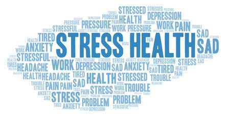 Ilustración de Stress Health word cloud. Wordcloud made with text only. - Imagen libre de derechos
