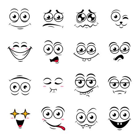 Illustration for Happy sumbol emoji icons vector illustration - Royalty Free Image