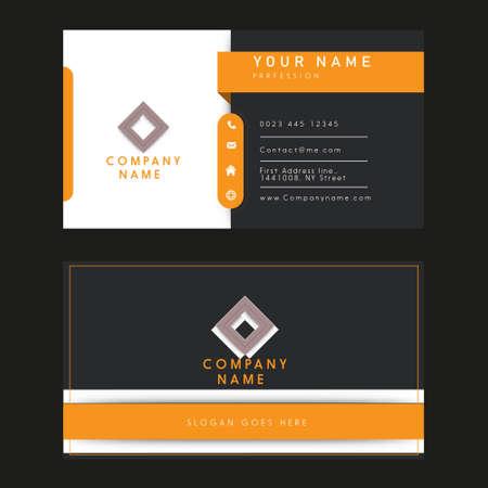 Illustration pour business name card illustration design - image libre de droit