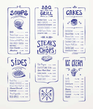 Illustration pour Restaurant Menu Food Design Ideas - image libre de droit