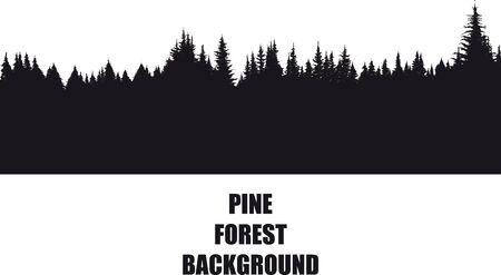 Illustration pour pine Forest Background - image libre de droit