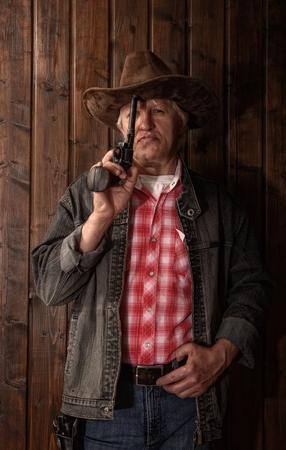 Foto de middle aged cowboy - Imagen libre de derechos