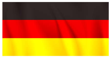straight horizontal black red yellow flag of germany