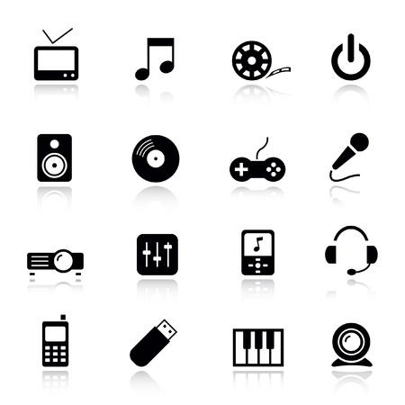 Ilustración de Basic - Media Icons - Imagen libre de derechos