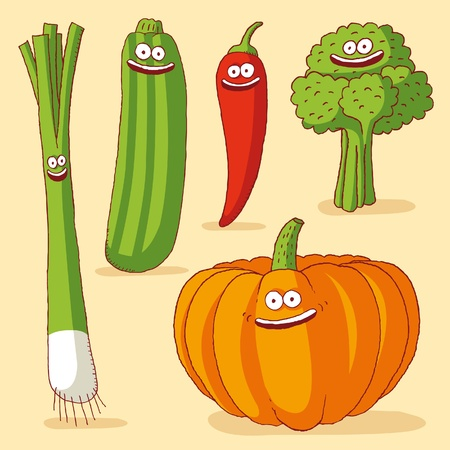 Illustration pour Funny vegetables - image libre de droit