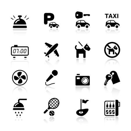 Illustrazione per Basic - Hotel icons - Immagini Royalty Free