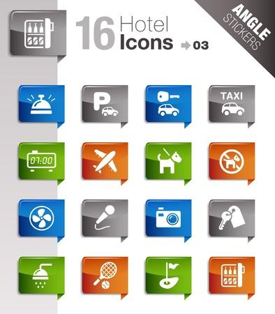 Illustrazione per Angle Stickers - Hotel icons - Immagini Royalty Free