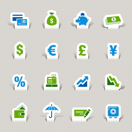 Paper Cut - Finance icons