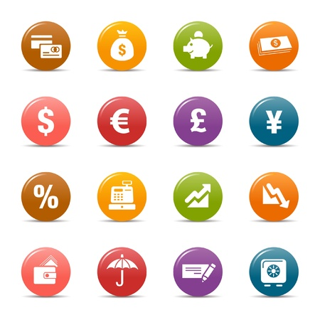 Colored dots - Finance icons