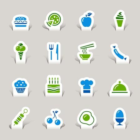 Paper Cut - Food Icons