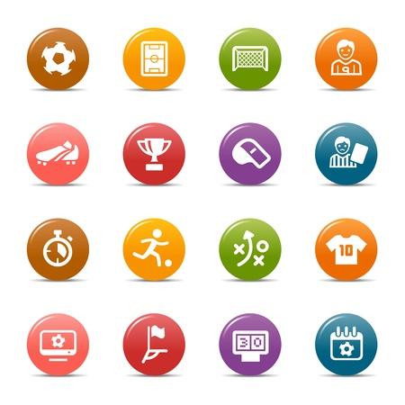 Ilustración de Colored Dots - Soccer Icons - Imagen libre de derechos