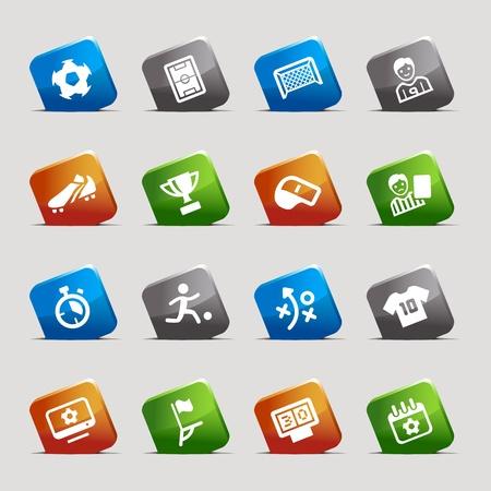 Ilustración de Cut Squares - Soccer Icons - Imagen libre de derechos
