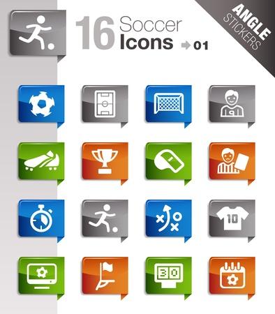Ilustración de Angle Stickers - Soccer Icons - Imagen libre de derechos