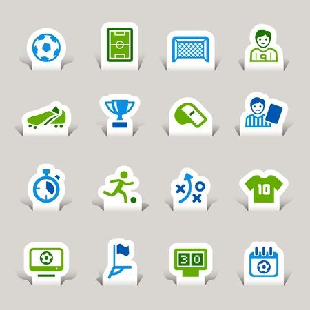 Ilustración de Paper Cut - Soccer Icons - Imagen libre de derechos