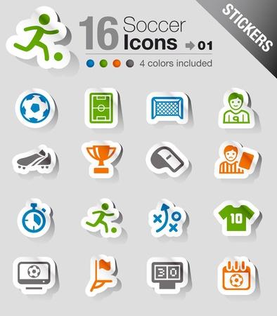 Ilustración de Stickers - Soccer Icons - Imagen libre de derechos