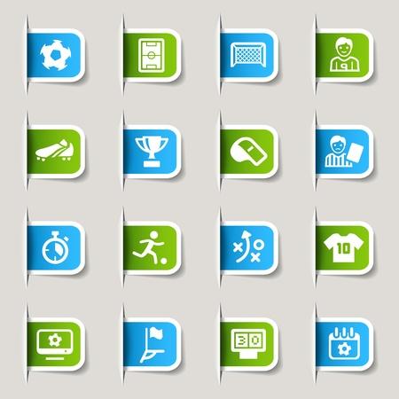 Ilustración de Label - Soccer Icons - Imagen libre de derechos