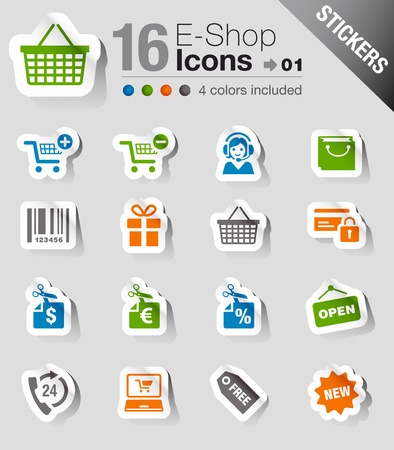 Stickers - Shopping icons