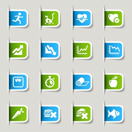 Label - Health and Fitness icons