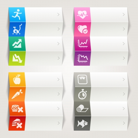 Rainbow - Health and Fitness icons   Navigation template